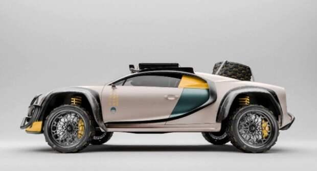 Дизайнер превратил Bugatti Chiron в безумный внедорожник