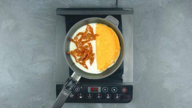 Многослойный омлет. Оригинальное блюдо на завтрак из обычного яйца 4