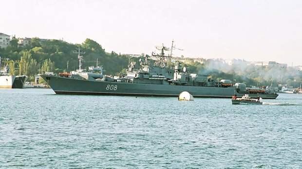 Экипаж корабля ЧФ «Пытливый» провёл тренировку по противовоздушной обороне