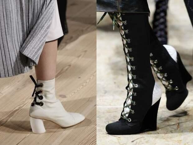 Сапоги со шнуровкой