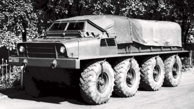 Плавающий прототип ЗИС-Э134 Макет № 2 без подвески. 1956 год  история, ссср, факты