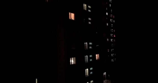 Масштабная «светодискотека» в жилых домах под Москвой попала на видео