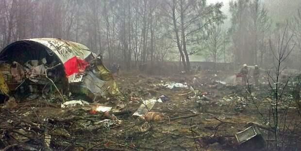 Ту-154, разбившийся под Смоленском, в котором погиб президент Польши Качиньский