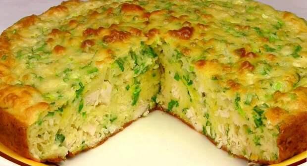 Заливной пирог с КУРИЦЕЙ и кабачком: необычный рецепт, все подруги выпрашивают