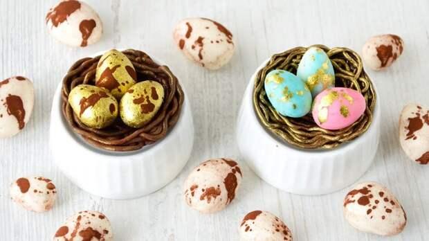 Милый и очень простой съедобный пасхальный декор из доступных продуктов