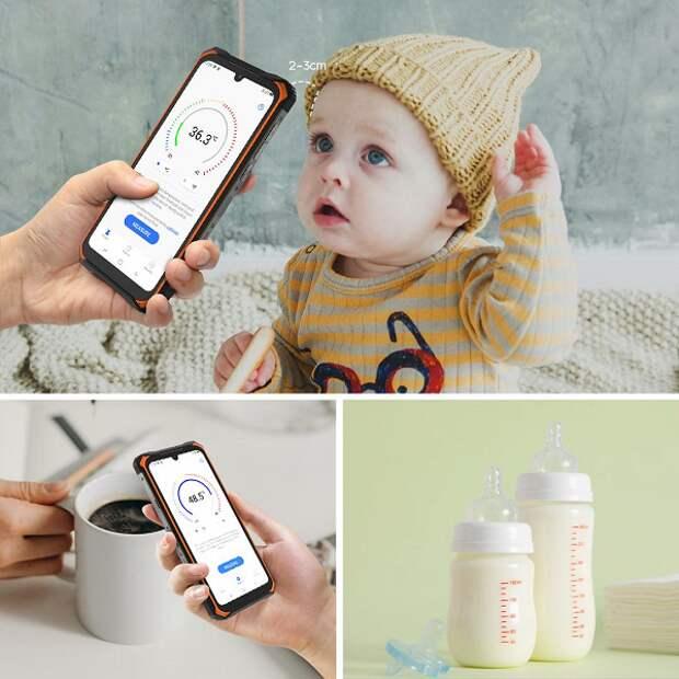 Неубиваемый смартфон с батареей на 8500 мА•ч, NFC и термометром Doogee S86 Pro предлагают с огромной скидкой первым покупателям