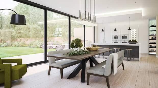 как выбрать линолеум в квартиру столовая с роскошным видом из окон