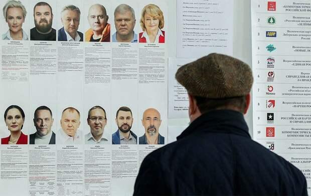 «Рост» от Петербурга, ЛДПР - от Томска: инфографика голосования по одномандатным округам