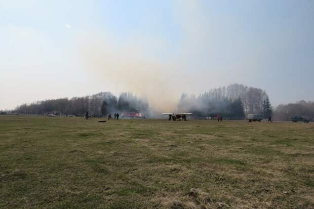 Аэровокзал сгорел в селе Северное