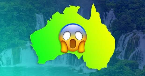 В Австралии водопады текут снизу вверх. Да, такое бывает