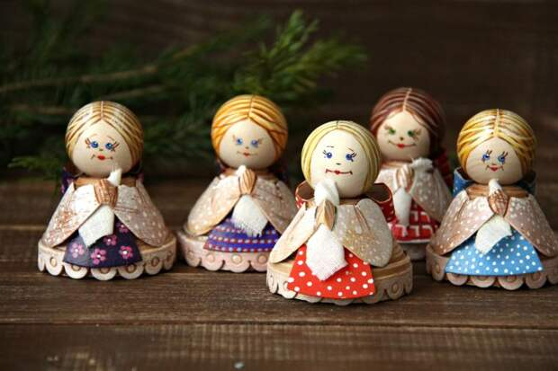 Делаем сувенир из бересты — колокольчик «Русская красавица»
