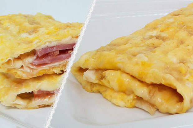 Фото к рецепту: Завтрак из лаваша (с начинкой) за 5 минут