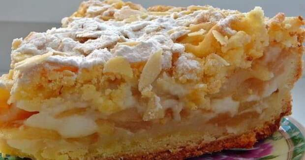 Яблочный пирог по-польски. Рассыпчатое тесто и сочная начинка 2