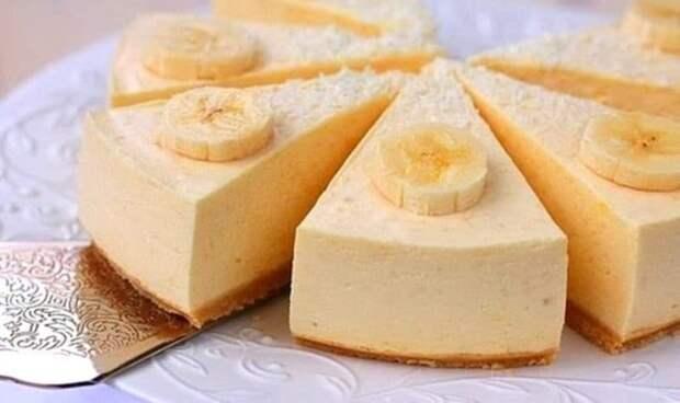 чизкейк с бананом, Банановый чизкейк