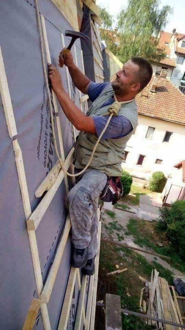25 фотографий безбашенных ремонтников