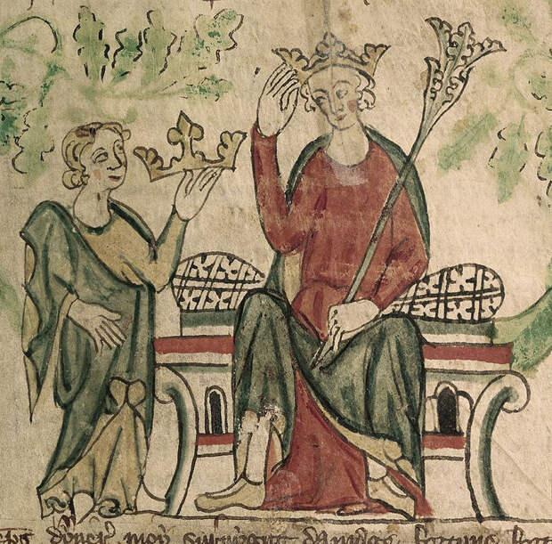 Эдуард II принимает английскую корону.