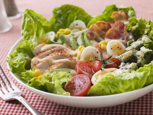 Подборка салатов с куриным филе
