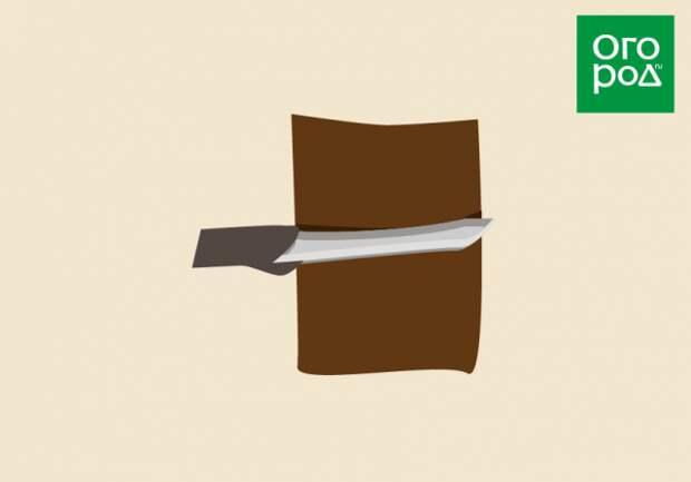 Как сделать горизонтальный надрез при кольцевании дерева