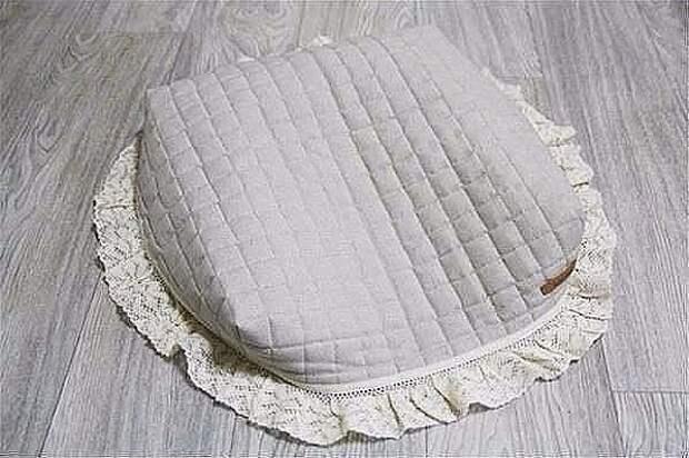 Уютная идея - красивый чехол на табурет