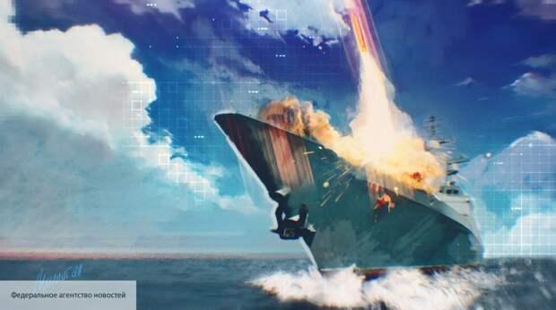 """США показали на видео ракетный удар по С-400 и крейсеру """"Варяг"""""""