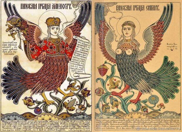 Делаем из бисера мифических славянских птиц Сирин и Алконост
