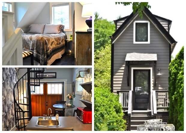 Маленький трехэтажный коттедж удалось сделать комфортным и стильным (Bird House, штат Северная Каролина).