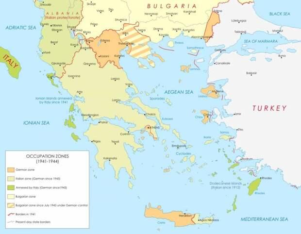 Падение Афин. Немецкий блицкриг в Греции