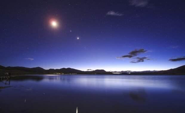 Полная Луна сформирует в небе идеальный треугольник с двумя самыми большими планетами