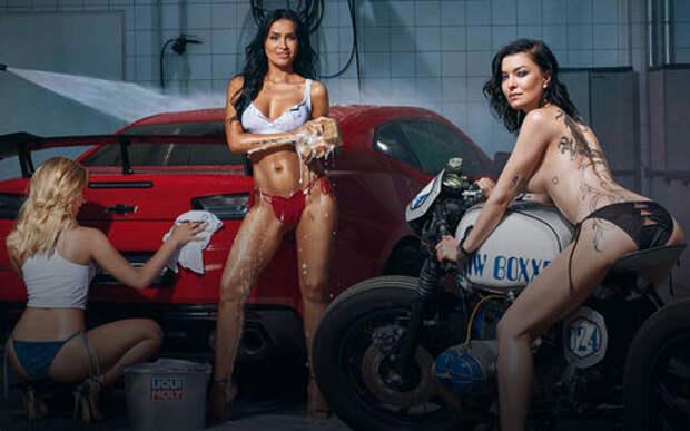 Девушки и горячие спорткары: Liqui Moly показала новый календарь