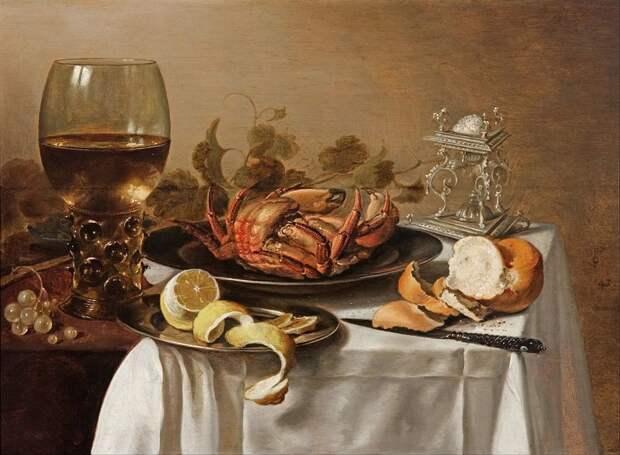 Натюрморт с крабом голландские натюрморты, живопись, искусство, красота, цветы