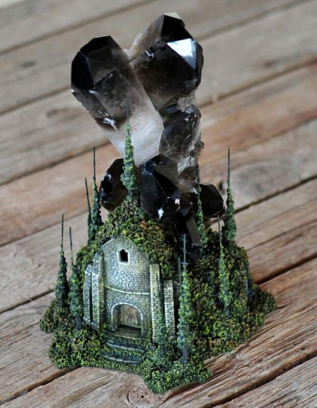 Домики с кристаллами Umay Design