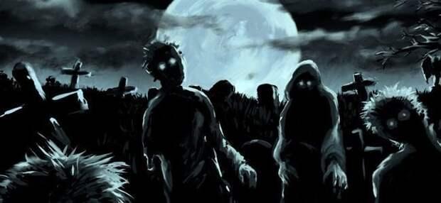 Мертвые нападают на живых аварии, кладбище, мистика