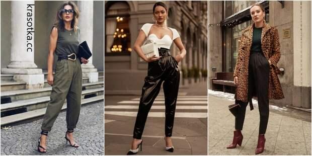 10 вдохновляющих примеров с чем носить брюки-бананы, которые стоит взять на заметку