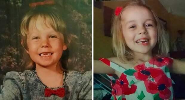 14. Мать и дочь: 20 лет разницы дети, неожиданно, подборка, родители, семья, сравнение, тогда и сейчас, фото