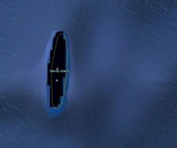 4. Острова Сэнди Айленд на самом деле не существует. Он долго показывался на Google картах из-за ошибочных записей столетней давности, но его убрали, как только осознали ошибку Google Карты, вокруг света, интересное, открытия