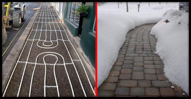 Как устроены тротуары с подогревом в Исландии
