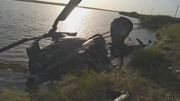 Под Ростовом потерпел крушение частный вертолет