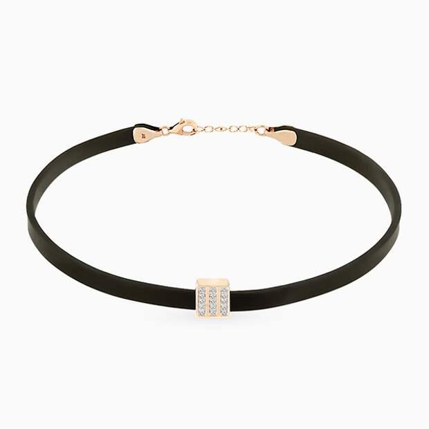 Ожерелье-чокер SL, вставка – розовое золото, бриллианты