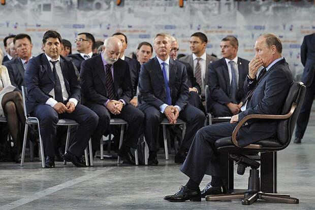 Президент на встрече с представителями крупного бизнеса. Фото из открытого источника.