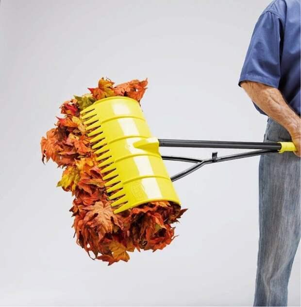 7. Такие грабли не только убирают, но и захватывают мусор дача, дачники, дачные инструменты, дачный инвентарь