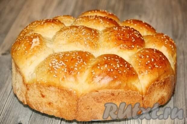 Белый хлеб на кефире в духовке