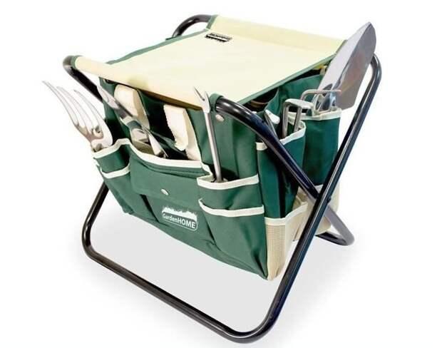 2. Стульчик, благодаря которому все инструменты под рукой дача, дачники, дачные инструменты, дачный инвентарь