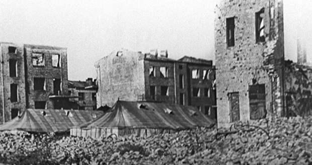 Руины Сталинграда во время Великой Отечественной войны