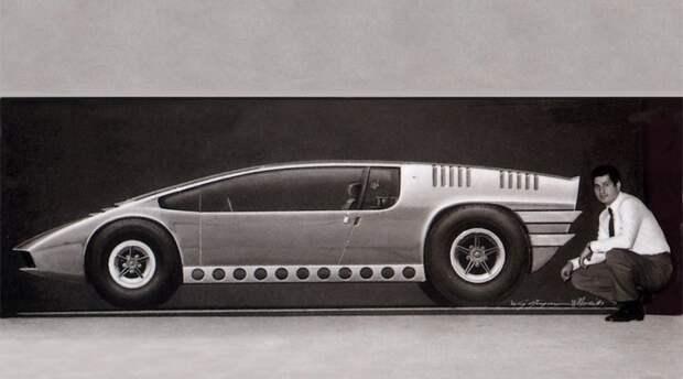 История создания Bizzarini Manta в фотографиях от начала… Bizzarrini Manta, Джорджетто Джуджаро, авто, автодизайн, автомобили, аэродинамика, дизайнер