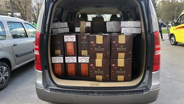 382 кг шоколада передали медикам Подольска, работающим с больными Covid‑19