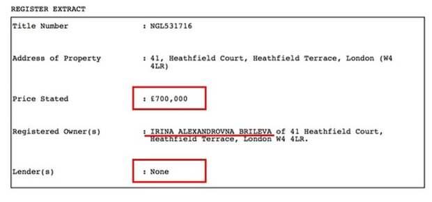 Жена Брилева вслед за мужем получила британское гражданство