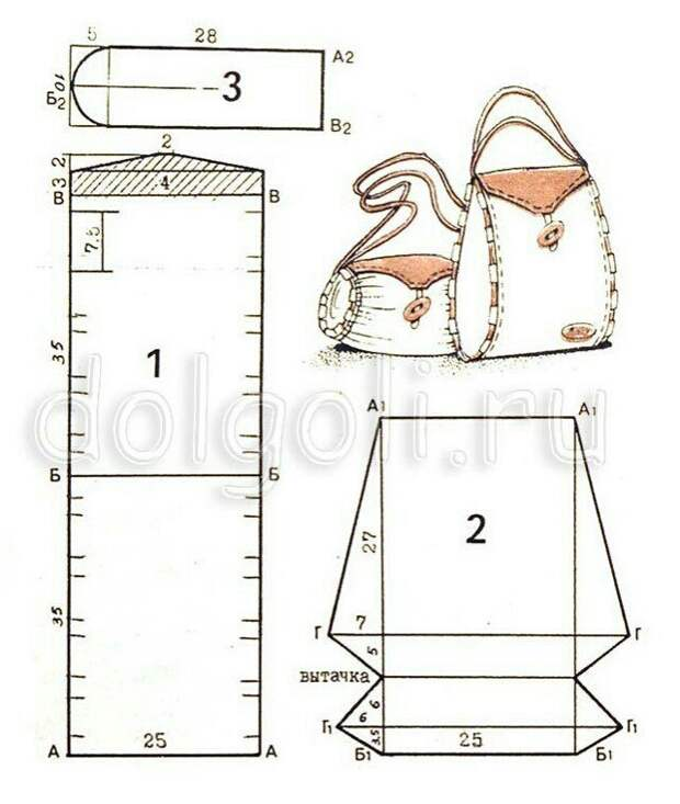 Советская выкройка пляжной сумки (и пошив)