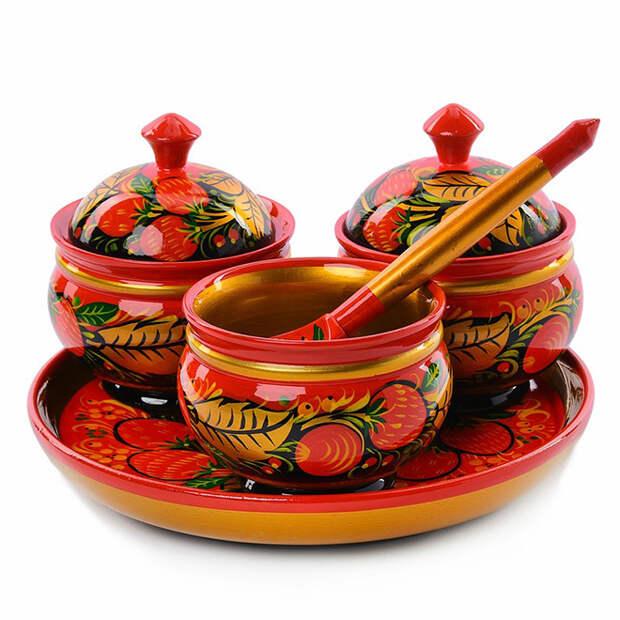 Хохлома: посуда, которая достойна царского стола (40 фото)