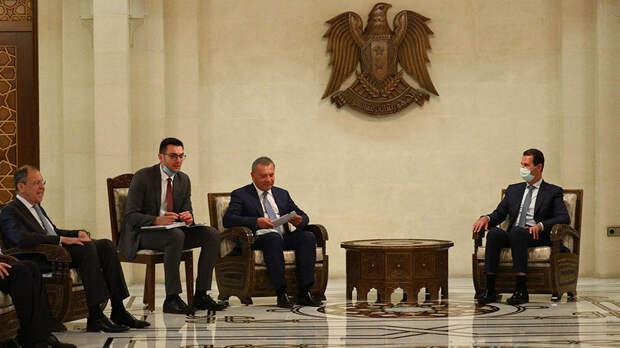 Лавров встретился с президентом Сирии Башаром Асадом