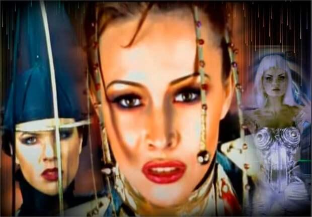 Коллаж автора: Анна Белоцерковец и модель  «Red Stars», фрагменты клипа - «Ты одна, ты такая» и «Звезда моя далёкая»